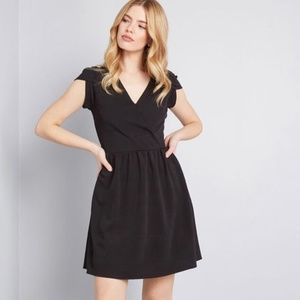 Modcloth Faux Wrap Dress Date Night Done Right L
